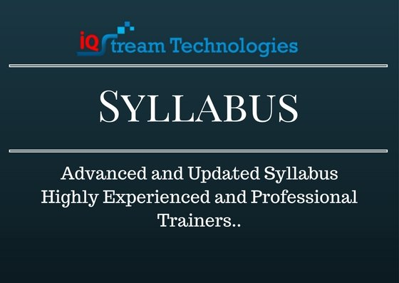 Datastage Training Syllabus